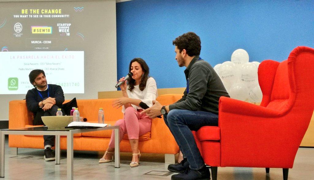 Un sofá en la Startup Europe Week en Murcia – #SEW2018 #SEWMURCIA
