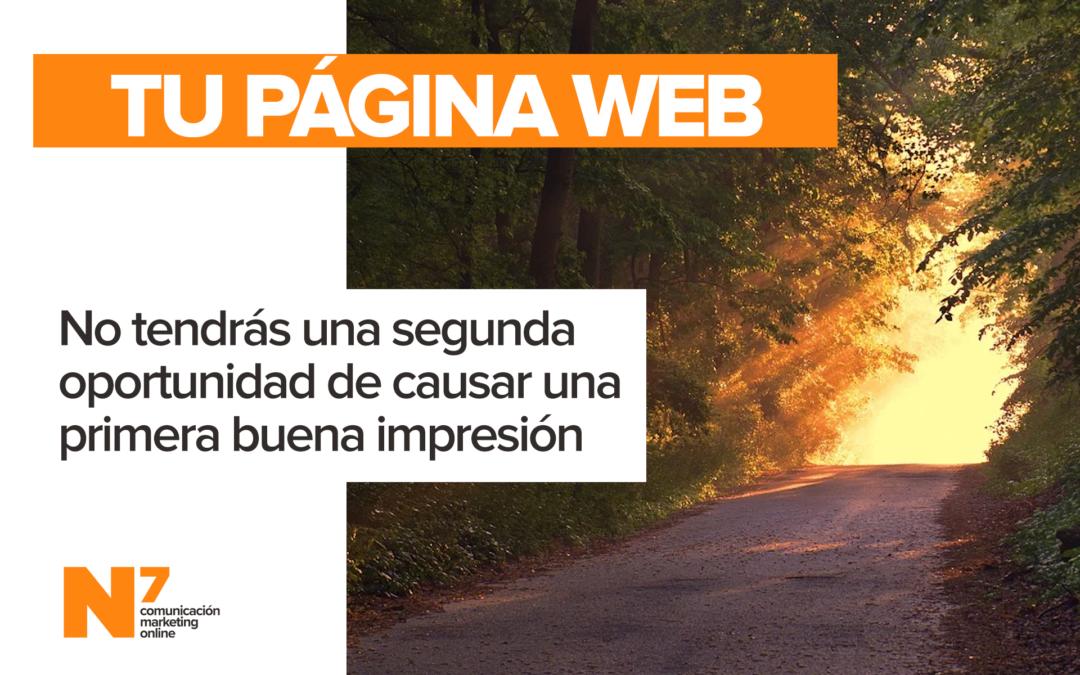 Web: No hay una segunda oportunidad para causar una primera buena impresión