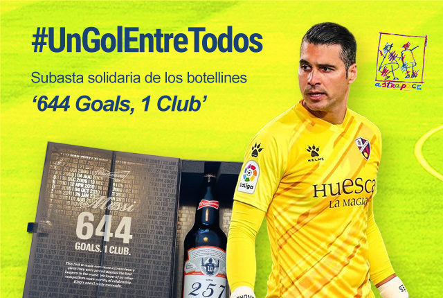 """Andrés Fernandez dona a Astrapace el regalo de Messi para lanzar la campaña solidaria """"Un Gol entre Todos"""""""